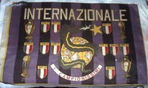 Sport Calcio - Internazionale Football Club - Bandiera originale Anni 70 - Italia - Sport Calcio - Internazionale Football Club - Bandiera originale Anni 70 - Italia