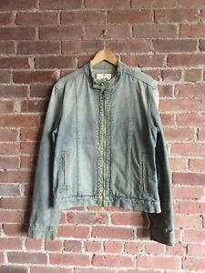 Details about Vintage Y 3 Yohji Yamamoto Men's Moto Jacket, Denim, Sz Medium, Italy