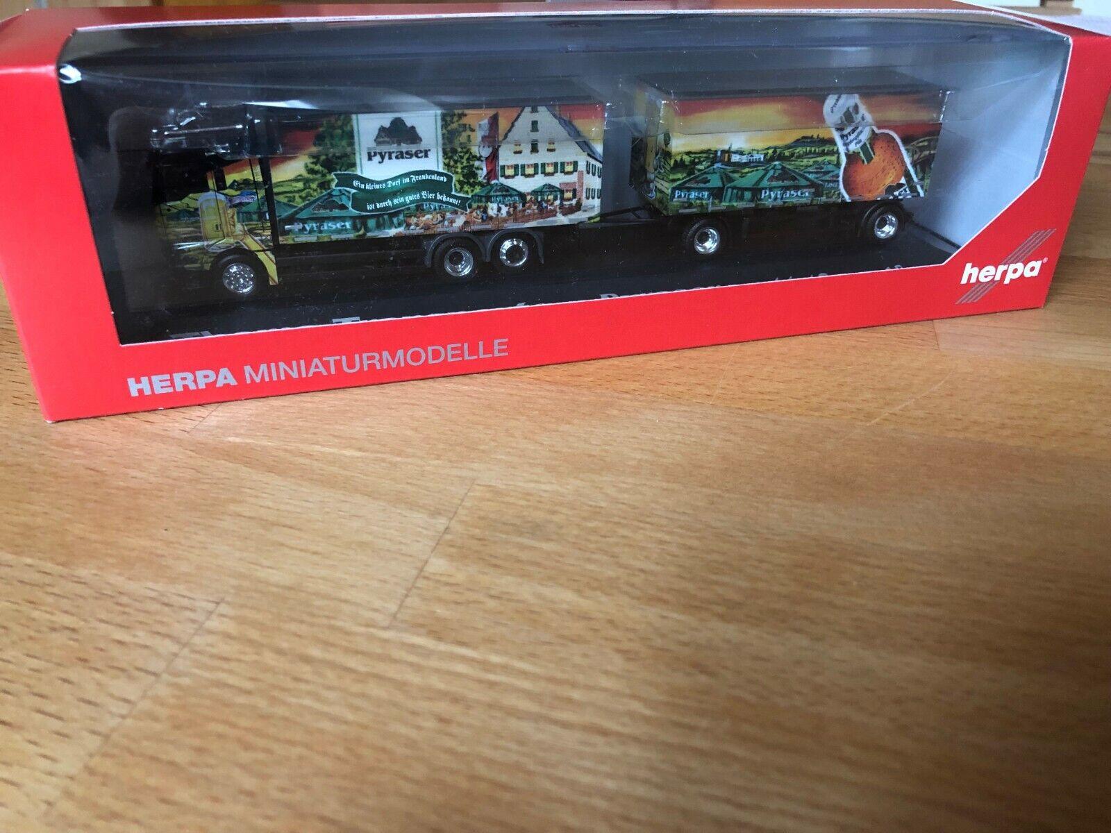 HERPA, on TGX XLX Boissons Valise-Hängerzug  PYRASER brasserie Thoma Transports
