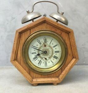 Antique-alarm-clock-made-in-Austria-Rare-to-find-in-this-perfect-condition
