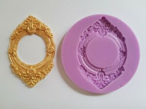 ORNATE-BAROQUE-OVAL-ROUND-FRAME-SILICONE-MOULD-FOR-CAKE-TOPPERS-CLAY-ETC
