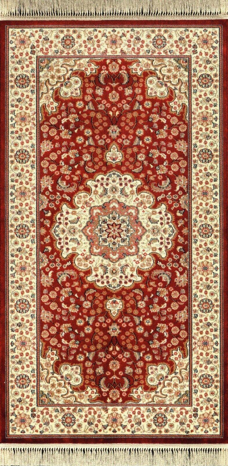 Tappeto classico rettangolare salone cm 100 x cm 140 Opera disegno 585 Rosso
