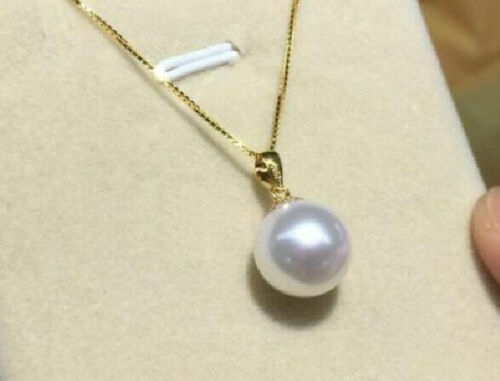 """beautiful AAA 16MM South Sea White Shell pearl Pendant Necklace 14k Gold 17-18/"""""""