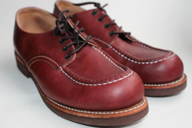 MOC Toe Wedge Oxford Black Shoes