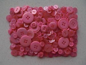 Pink-buttons-mixed-sizes-100-grams