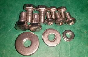 VW-Karmann-Ghia-Bonnet-Fitting-Bolts-Catch-Screws-Stainless-Parts-Kit-Classic