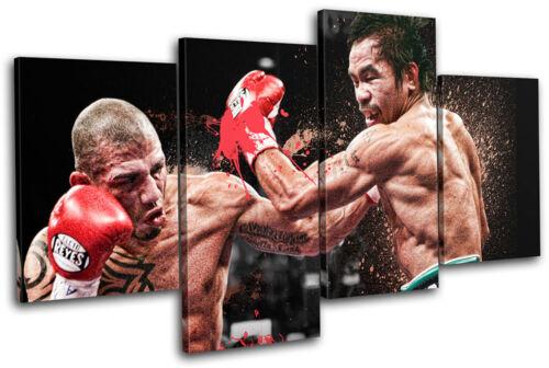 Cotto Pacquiao Boxing Sports MULTI CANVAS WALL ART Picture Print VA