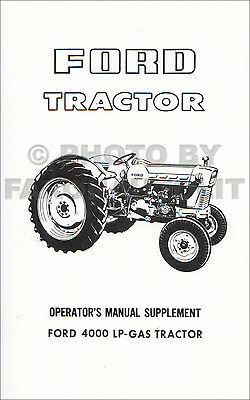 ford lp gas  tractor owners manual
