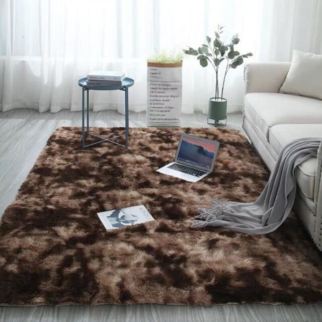 Shaggy Fluffy Rugs Anti Skid Area Rug
