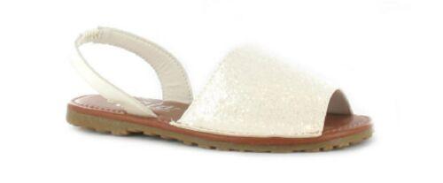 Girls Kids Summer Sandals Glitter Menorcan Slingback Sizes 10 11 12 13 1 2 UK