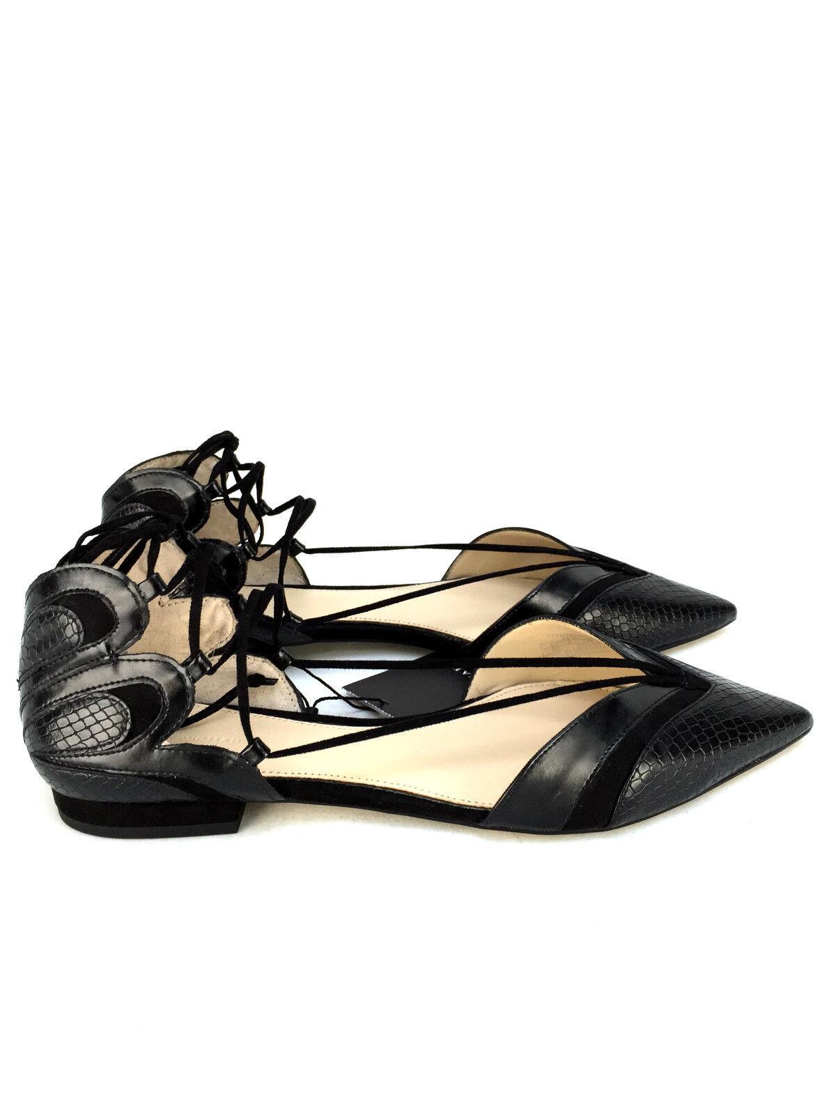ZARA BLACK BALLERINAS FLAT VAMP Schuhe WITH STRAPS SIZE UK 5 7