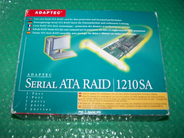 Adaptec 1210SA SATA PCI  RAID Controller Card with cables