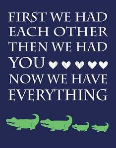 Details About Navy Blue And Green Alligator Nursery Print Crocodile Decor
