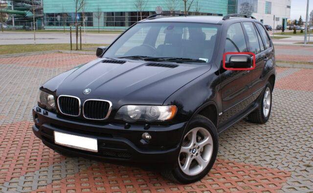 Neuf D'Origine BMW X5 E53 N/S GAUCHE Miroir Capuchon Apprêtée 8256321 OEM