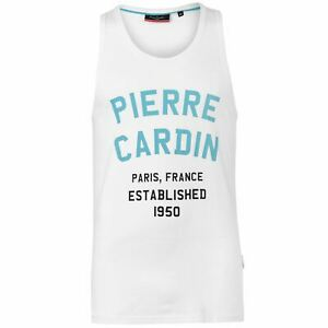 Pierre-Cardin-Uomo-Bright-Vest-Canotta-senza-maniche-scollo-tondo-cotone-leggero