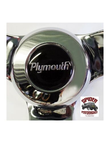 "1961-1966 Belvedere Valiant Fury steering wheel PLYMOUTH 13 1//2/"" CLASSIC CHROME"