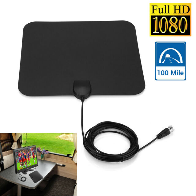 100 Mile HD Digital 1080P TV Antenna 36dB with Signal Amplifier VHF/UHF 3M Cable