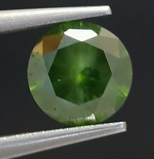 0.71 Carat Fancy Color Enhanced Green Diamond Loose Brilliant Cut Sparkling