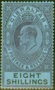 Gibraltar 1903 8s Dull Violet et noir-bleu SG54 Amende & Frais Légèrement Mtd