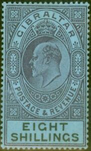 Gibraltar-1903-8s-Dull-Violet-et-noir-bleu-SG54-Amende-amp-Frais-Legerement-Mtd