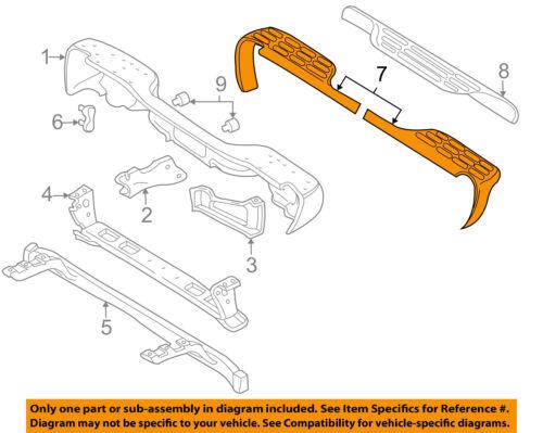 GM OEM Rear Bumper-Step Pad Protector Guard Sill Plate Left 15758743