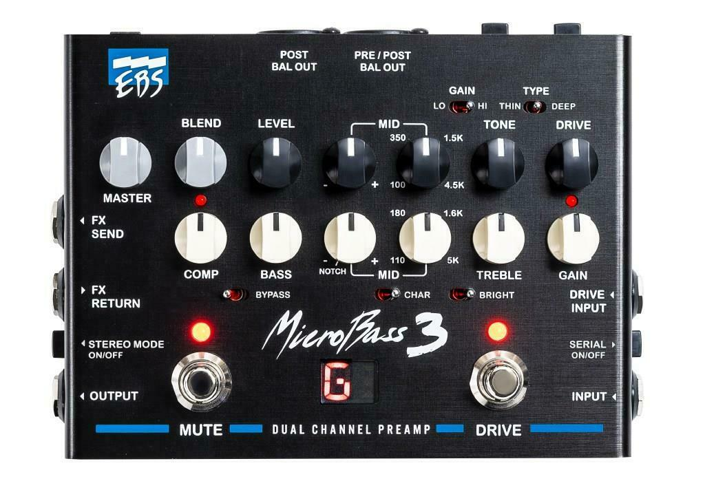 EBS MicroBass 3 Professional Bass Preamp pedal