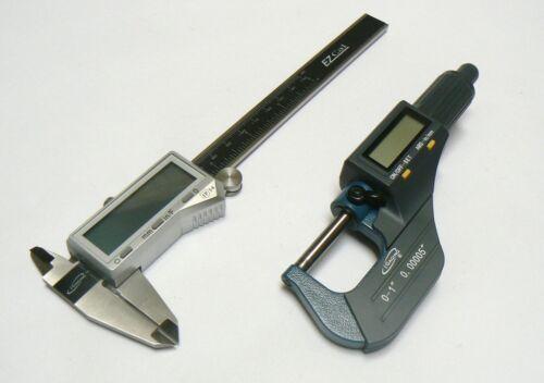 iGaging Digital Electronic Micrometer /& Caliper Set Machinist Measuring Tool Kit