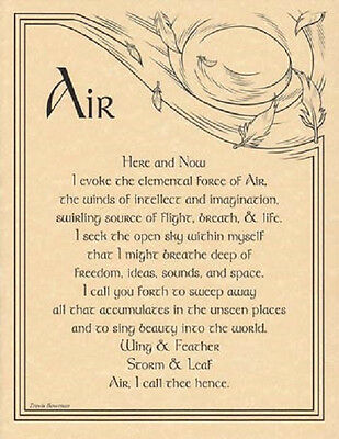 "Air Evocation Parchment Poster  8 1/2"" by 11"""