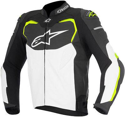 Details zu ALPINESTARS Herren Lederjacke GP Pro schwarz weiß gelb Gr 50 statt 549,95 Euro