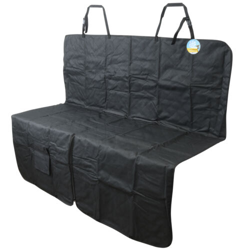 ME & MY BLACK QUILTED REAR CAR SEAT LINER/PROTECTOR HAMMOCK PET DOG COVER/MAT