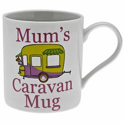 Mum's Caravan Mug Fine China Mugs in Gift Box Birthday Christmas Gifts