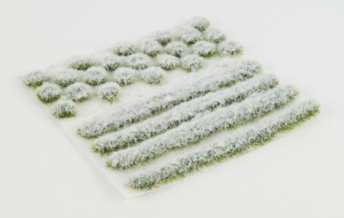 WWS 4mm Iced Winter Static Grass Modeling Tufts/Strips Mix - Railroad Warhammer