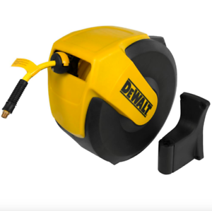 Dewalt 3//8 inch 50 feet Retractable Auto Rewind Hybrid Air Compressor Hose Reel