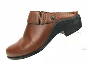 Ariat-Clogs-Mules-Slingback-Convertible-Brown-Leather-Slip-On-Women-039-s-Sz-6-5B