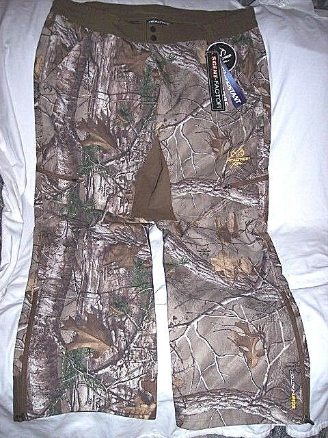 Mens 2X Wind Proof Pants Realtree Camo Pants Non Insulated Camo Hunting Pants 2X