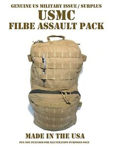 USMC-COMBAT-FIELD-BACKPACK-FILBE-ASSAULT-PATROL-PACK-REPAIRED-USEABLE-COYOTE-TAN
