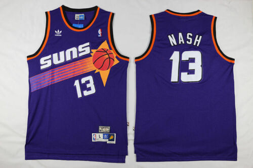Steve Nash Purple 13 Phoenix Suns Throwback Swingman Jersey Basketball Men S-XXL