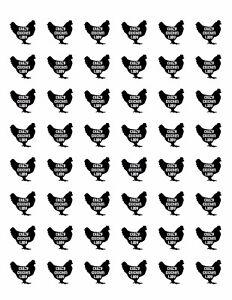 48-CRAZY-CHICKEN-LADY-ENVELOPE-SEALS-LABELS-STICKERS-1-2-034-ROUND