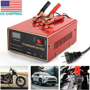 Maintenance-free-Battery-Charger-12V-24V-10A-140W-Output-For-Electric-Car-USA