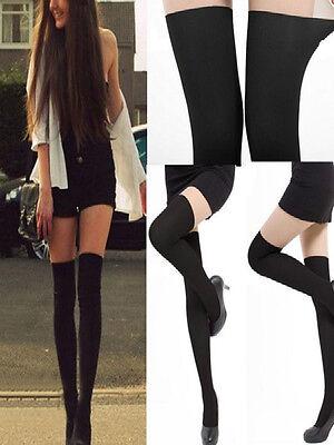 Sexy Womens Black Tinted Sheer False High Stockings Pantyhose Tights hot sales