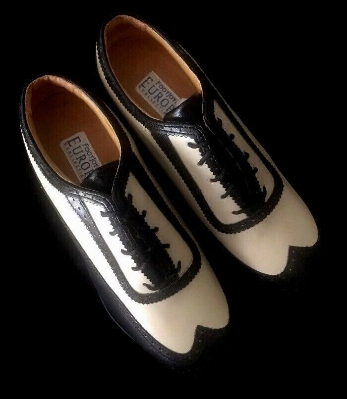 FOOTJOY Europa Collection Womens Golf Shoe-Black and Creme- US 8.5 W