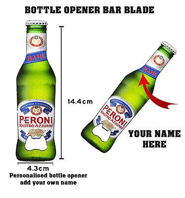 Brand new Peroni bottle opener bar blade