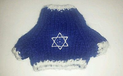 Israeli Flag Star Of David Jewish Sweater Handmade for 18 inch Build A Bear