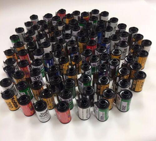 Lote de 1000 frascos vacíos de película de 35mm Surtidos//Cola de cartuchos para volver