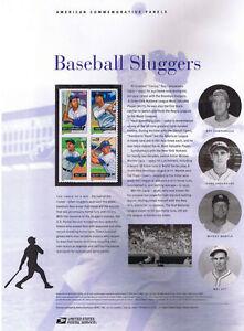 772-39c-Baseball-Sluggers-4080-4083a-USPS-Commemorative-Stamp-Panel