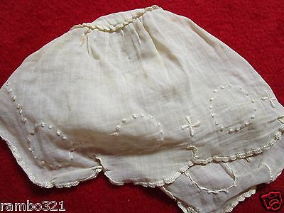 1920s Hand Made Doll Clothes - Night Cap Hat Rare Unique Beautiful