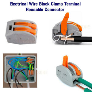 electrical connectors wire block clamp terminal cable 12v 240v rh ebay co uk 12V Wiring Basics 12V Relay Wiring