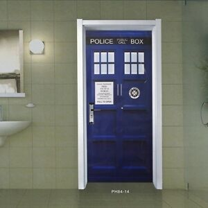 Image is loading Blue-Wall-Decal-Doctor-Who-TARDIS-Door-Graphic- & Blue Wall Decal Doctor Who TARDIS Door Graphic Unique Fathead-Style ...