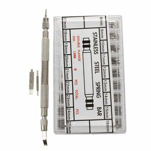360-pcs-8-25mm-Uhren-Edelstahl-Federstege-Stifte-Uhr-Armband-Balken-Federst-K8H1