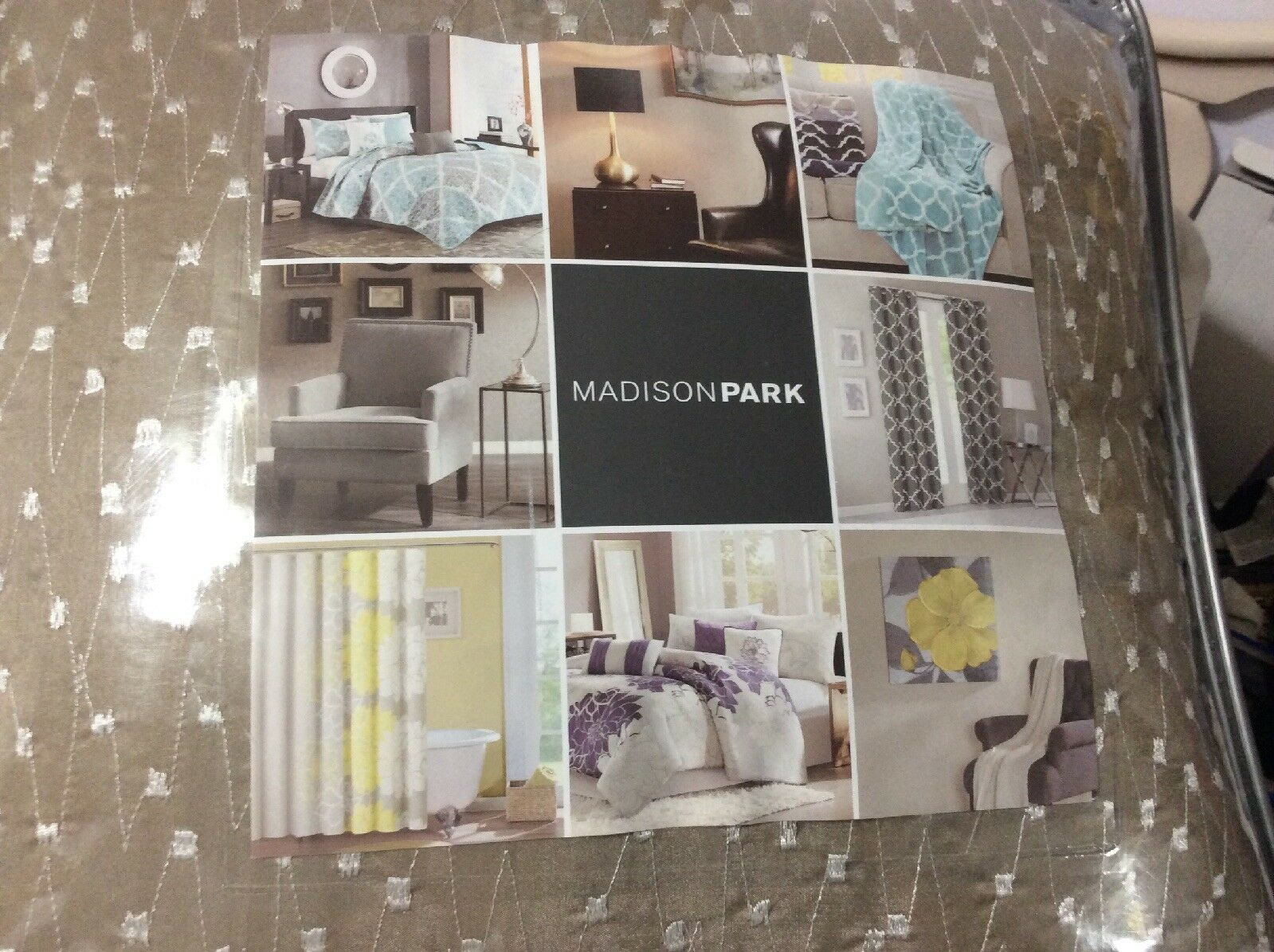 Madison Park Duvet Cover 7pc Bed Set  Full Queen